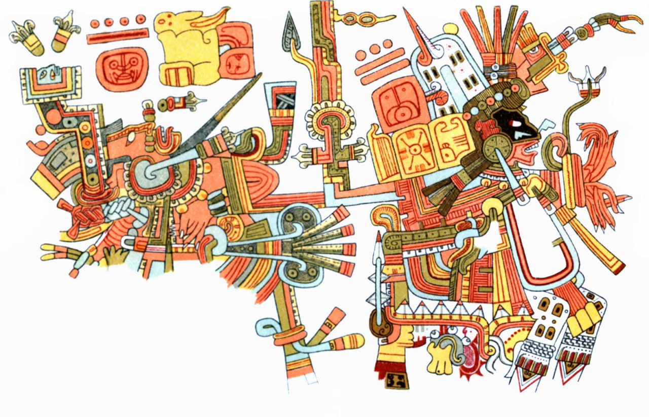 Background image of a Maya Illustration